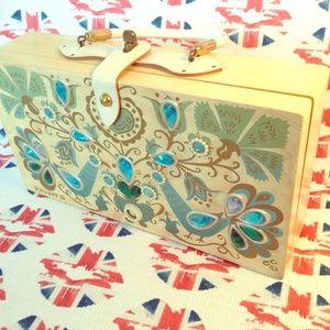 Handbags - Enid Collins Vintage Pavan II Wood Box Bag